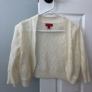 Cropped lightweight sweater